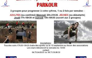Le Parkour et le Street Workout reprend également !!!